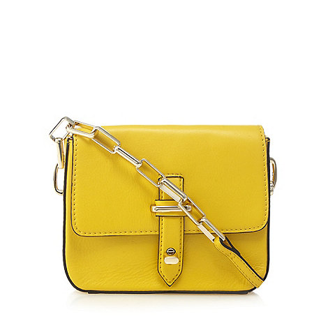 J by Jasper Conran - Yellow leather small cross body bag