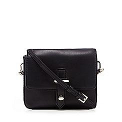 J by Jasper Conran - Black leather cross body bag