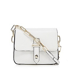 J by Jasper Conran - White leather small cross body bag