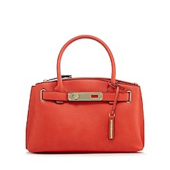 J by Jasper Conran - Red grained small grab bag