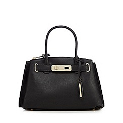 J by Jasper Conran - Black grained small grab bag