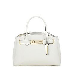 J by Jasper Conran - White grained small grab bag