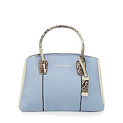 J by Jasper Conran - Light blue snakeskin-effect detail small grab bag