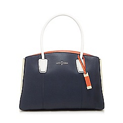 J by Jasper Conran - Navy three section large grab bag