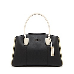 J by Jasper Conran - Black three section large grab bag