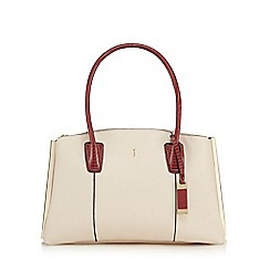 J by Jasper Conran - Cream three compartment large grab bag