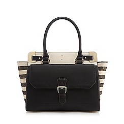J by Jasper Conran - Black and grey striped grab bag