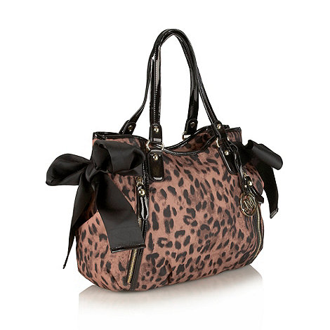 Star by Julien Macdonald - Designer leopard print side bow shoulder bag