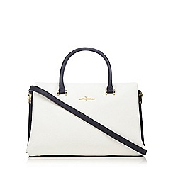 J by Jasper Conran - Navy and white block grab bag