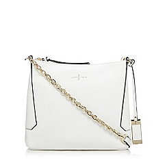 J by Jasper Conran - White leather cross body bag