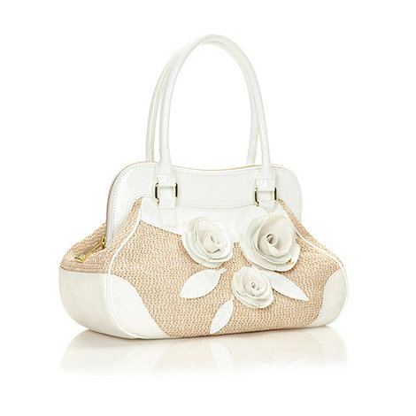 Star by Julien Macdonald - Designer white rose corsage shoulder bag
