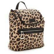 Designer Tan Leopard Printed Backpack