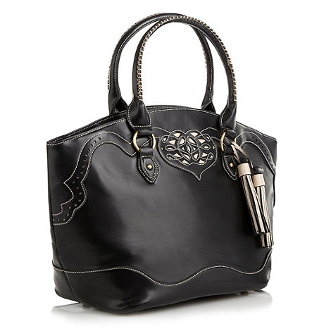 Butterfly by Matthew Williamson - Designer black cut out detailed bucket bag