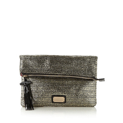 Butterfly by Matthew Williamson - Designer gold weave clutch bag