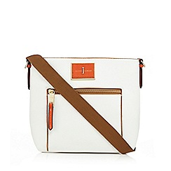 J by Jasper Conran - White logo plate cross body bag