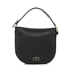 J by Jasper Conran - Black leather shoulder bag