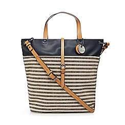 J by Jasper Conran - Navy stripe shopper bag