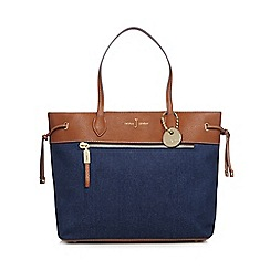 J by Jasper Conran - Blue denim shopper bag