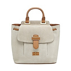 J by Jasper Conran - Grey suede backpack