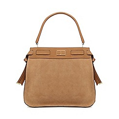 J by Jasper Conran - Tan suede shoulder bag