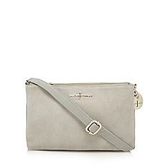 J by Jasper Conran - Grey suede cross body bag