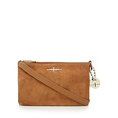 J by Jasper Conran - Tan leather gusset cross body bag