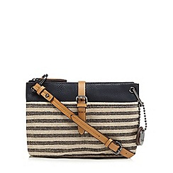 J by Jasper Conran - Navy striped cross body bag