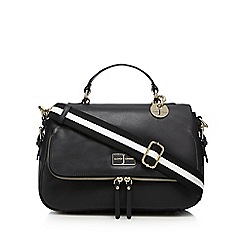 J by Jasper Conran - Black leather satchel bag