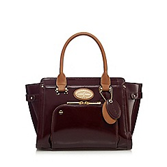 J by Jasper Conran - Dark red patent small grab bag