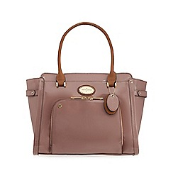 J by Jasper Conran - Pink patent large grab bag