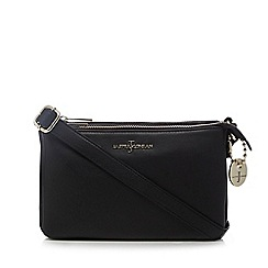 J by Jasper Conran - Black leather three compartment cross body bag