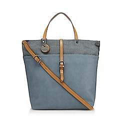J by Jasper Conran - Light blue canvas trim shopper bag
