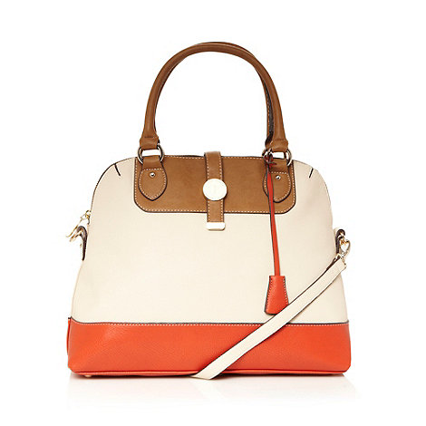J by Jasper Conran - Designer orange colour block grab bag