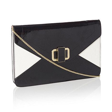 J by Jasper Conran - Designer black turn lock clutch bag