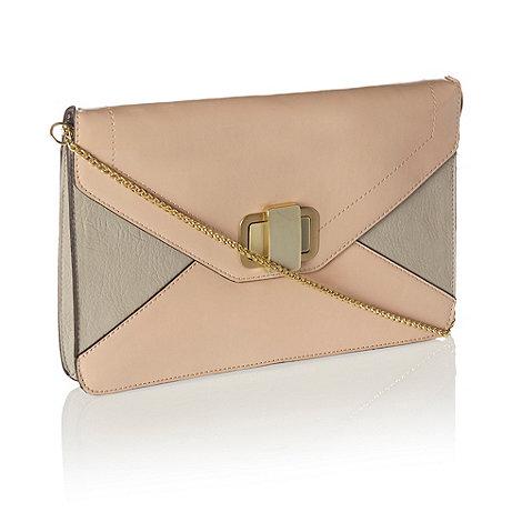 J by Jasper Conran - Designer light pink colour block clutch bag