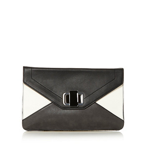 J by Jasper Conran - Designer white colour block clutch bag