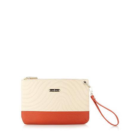 J by Jasper Conran - Designer orange colour block wave clutch bag