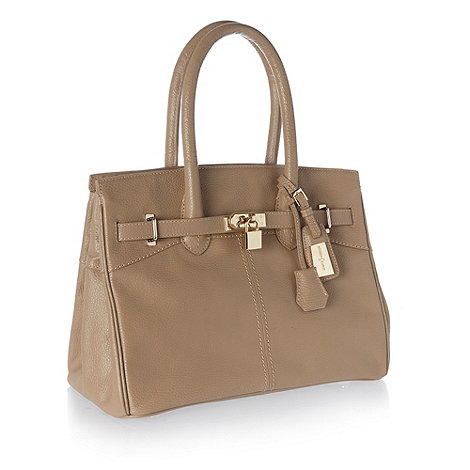J by Jasper Conran - Designer natural belted padlock tote bag