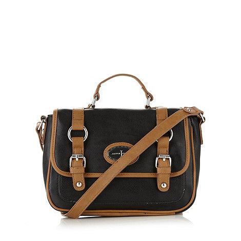 J by Jasper Conran - Designer black satchel cross body bag