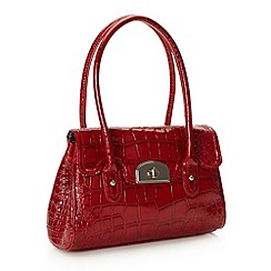 The Collection - Red small mock croc music bag