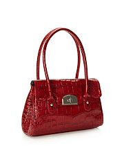 Red Small Mock Croc Music Bag