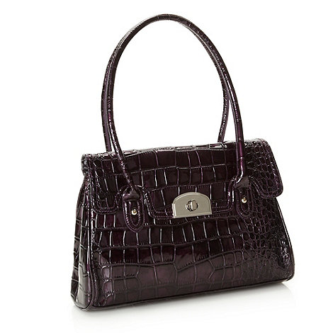 The Collection - Purple large mock croc music bag