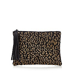 Star by Julien Macdonald - Gold beaded clutch bag