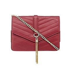 Star by Julien Macdonald - Red quilted metal tasselled cross body bag