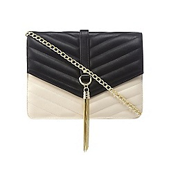 Star by Julien Macdonald - Cream quilted chain cross body bag