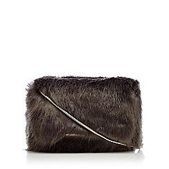Star by Julien Macdonald - Grey faux fur cross body bag