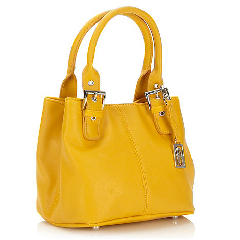 Principles by Ben de Lisi - Designer yellow crosshatch buckle grab bag
