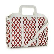 Designer White Cut Out Shopper Bag