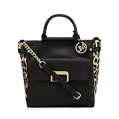 Star by Julien Macdonald - Black leopard print tote bag
