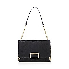 Star by Julien Macdonald - Black croc-effect shoulder bag